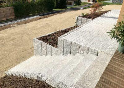 Escalier Palissade Pavage Granit - Saint Martin De Bellevue