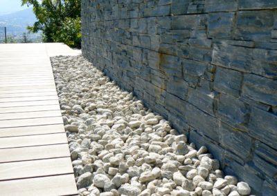 Terrasse Composite Parement Galets - Bassens